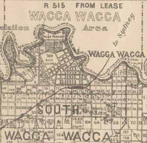Map of Wagga Wagga from 1897